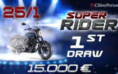 SUPER RIDER – PRVO ŽREBANJE za 4.000 €